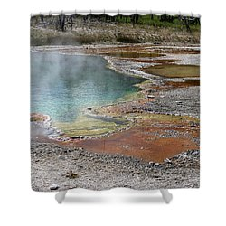 Hot Water At Yellowstone Shower Curtain by Laurel Powell