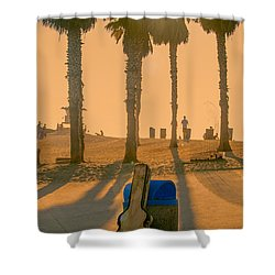 Hotel California Shower Curtain by Peter Tellone