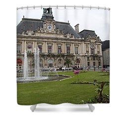 Hotel De Ville - Tours Shower Curtain by Christiane Schulze Art And Photography