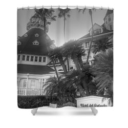 Hotel Del At Sunset Shower Curtain