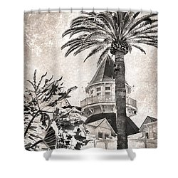 Shower Curtain featuring the photograph Hotel Del Coronado by Peggy Hughes