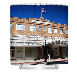 Hotel Jacaranda Shower Curtain by Beverly Stapleton