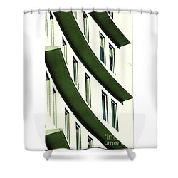 Shower Curtain featuring the photograph Hotel Ledges Of A New Orleans Louisiana Hotel by Michael Hoard