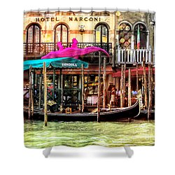 Hotel Marconi.venice. Shower Curtain by Jennie Breeze