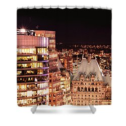 Shower Curtain featuring the photograph Hotel Vancouver And Wall Center Mdccv by Amyn Nasser