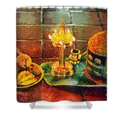 Hotel Welcome In India Shower Curtain