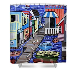 House Boats For Sale Shower Curtain by Anthony Falbo