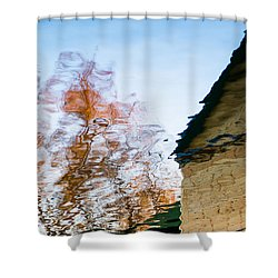House By The Lake Shower Curtain by Alexander Senin