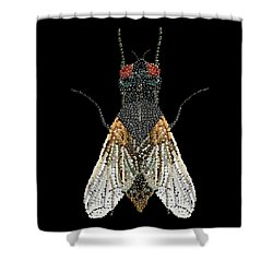 House Fly Bedazzled Shower Curtain