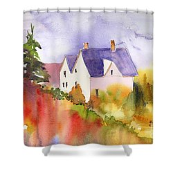 House In The Country Shower Curtain by Yolanda Koh