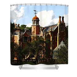 House Of 999 Ghosts Shower Curtain by David Lee Thompson