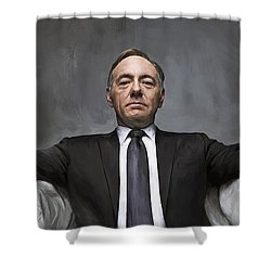 Shower Curtain featuring the painting House Of Cards Artwork by Sheraz A