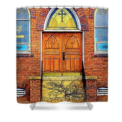 House Of God Shower Curtain by Rodney Lee Williams