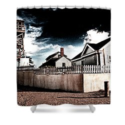 House Of Refuge Shower Curtain by Bill Howard