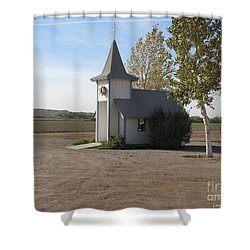 House Of The Lord Shower Curtain by Greg Patzer