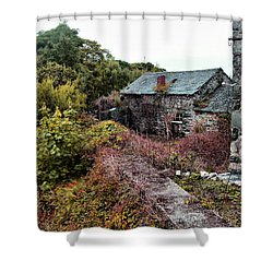 House On A River Shower Curtain by Doc Braham