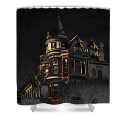 House On The Hill Shower Curtain by Liane Wright
