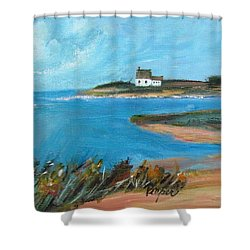 House On The Point Shower Curtain