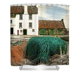 House On The Quay Shower Curtain by Edmund Nagele