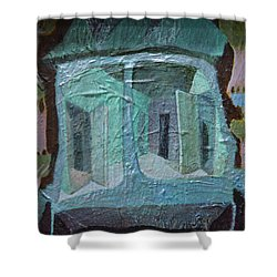 House On Wheels Shower Curtain by Nancy Mauerman