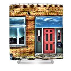 House Reflections Shower Curtain by Aliceann Carlton