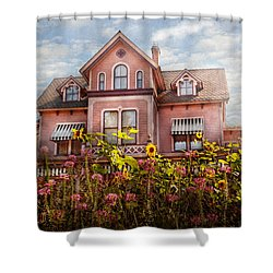 House - Victorian - Summer Cottage  Shower Curtain by Mike Savad