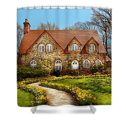 House - Westfield Nj - The Estates  Shower Curtain by Mike Savad