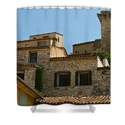 Houses At The Top Of The Hill Shower Curtain by Bob Phillips