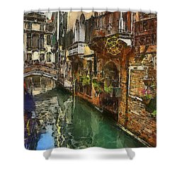 Houses In Venice Italy Shower Curtain