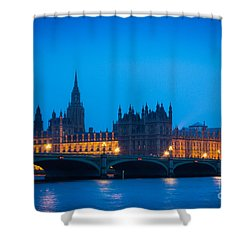 Houses Of Parliament Shower Curtain by Inge Johnsson