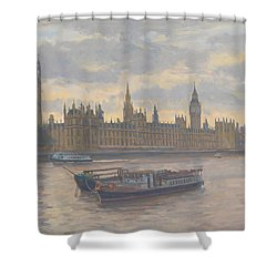 Houses Of Parliament Shower Curtain by Julian Barrow