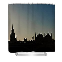 Houses Of Parliament Skyline In Silhouette Shower Curtain