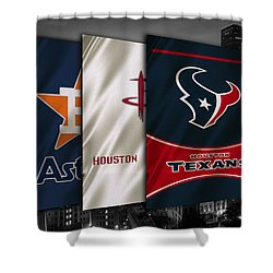 Houston Sports Teams Shower Curtain