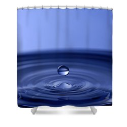 Hovering Blue Water Drop Shower Curtain