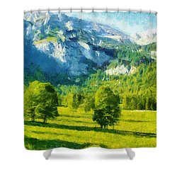 How Green Was My Valley Shower Curtain by Ayse and Deniz