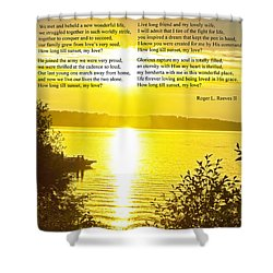 Shower Curtain featuring the photograph How Long Till Sunset by Tikvah's Hope