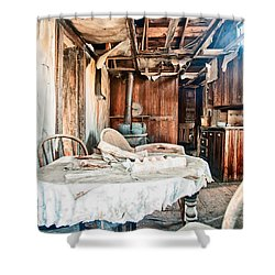 How Long Until Breakfast Shower Curtain by Cat Connor