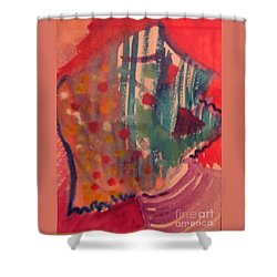 How Much I Loved You Original Contemporary Modern Abstract Art Painting Shower Curtain by RjFxx at beautifullart com