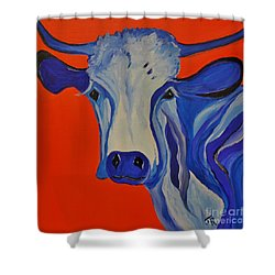 How Now Blue Cow Shower Curtain