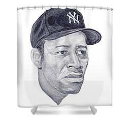 Shower Curtain featuring the painting Howard by Tamir Barkan