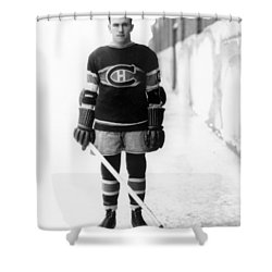 Howie Morenz Poster Shower Curtain by Gianfranco Weiss