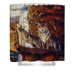 Howling For The Nightlife  Shower Curtain