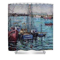 Howth Harbour  Dublin Shower Curtain by John  Nolan