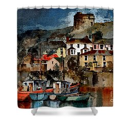 Howth Harbour In County Dublin Shower Curtain