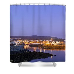 Howth Harbour Lighthouse Shower Curtain by Semmick Photo