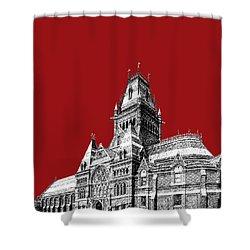 Harvard University - Memorial Hall - Dark Red Shower Curtain