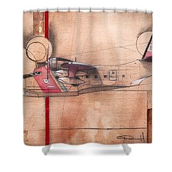 Hu 16 Albatross Shower Curtain