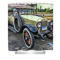 Shower Curtain featuring the photograph hudson 1921 phaeton car HDR by Paul Fearn