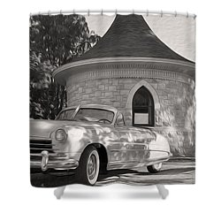 Shower Curtain featuring the photograph Hudson Commodore Convertible by Verana Stark