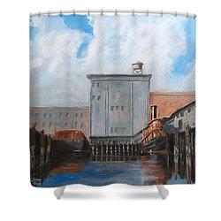 Hudson River Still Life Shower Curtain by Christopher Jenkins